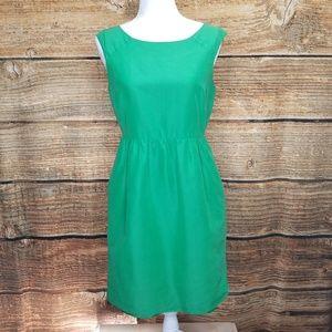 J. Crew Green Silk Blend Party Dress Size 6